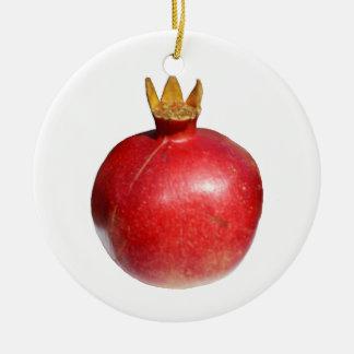 Pomegranate Rund Julgransprydnad I Keramik