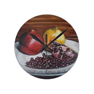 Pomegranate Rund Klocka