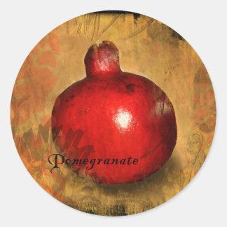 Pomegranate Runt Klistermärke