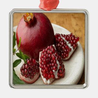 Pomegranate Silverfärgad Fyrkantigt Julgransprydnad