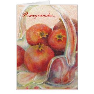 Pomegranates… Hälsningskort