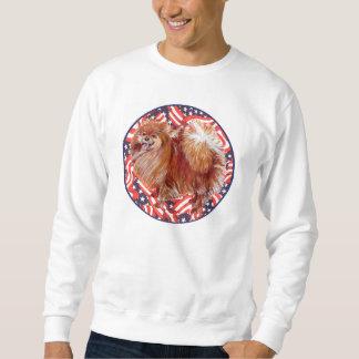 Pomeranian röd vit & blått sweatshirt