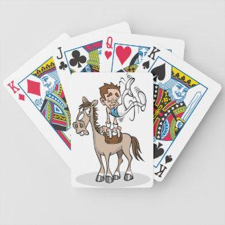 Pommelhästgymnastik som leker kort spelkort