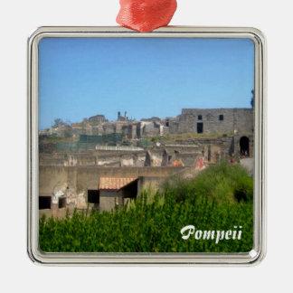 Pompeii italien julgransprydnad metall