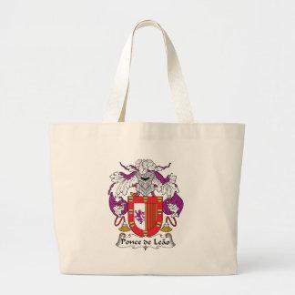 Ponce de Leao Familj vapensköld Tote Bags