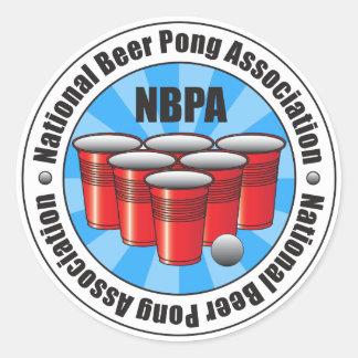 Pong för NBPA-medborgareöl anslutning Starburst Runt Klistermärke