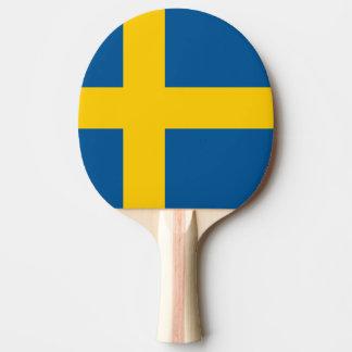Pong för svenskflaggapingen paddlar för pingisracket
