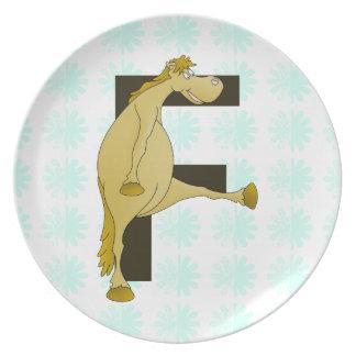 Ponny för Monogrambrev F Tallrik