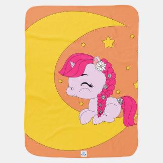 Ponny på månen - babyfilt