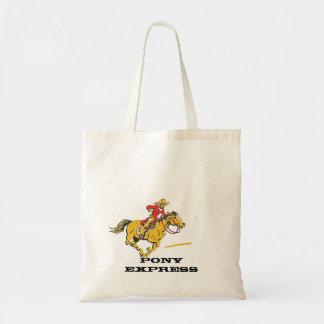 Ponnyn som den uttryckliga innegrejen postar tygkasse