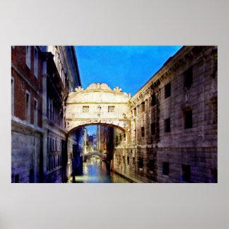 Ponte dei Sospiri, Venezia Poster