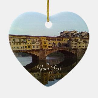 Ponte gammala Vecchio överbryggar den Florence Julgransprydnad Keramik