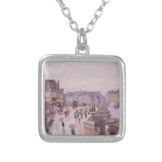 Ponten Neuf vid Claude Monet Silverpläterat Halsband