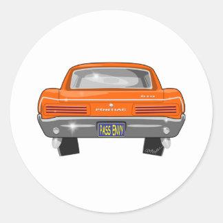 Pontiac 1966 GTO Runt Klistermärke