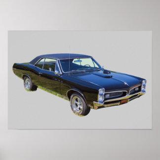 Pontiac GTO muskelbil 1967 Poster