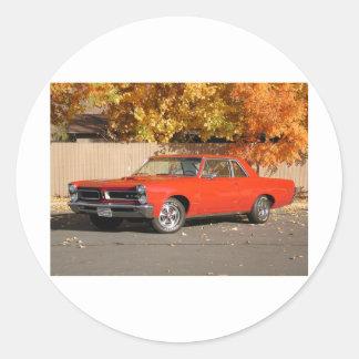 Pontiac GTO Runt Klistermärke
