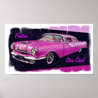 Pontiac stjärnachef 1955 poster