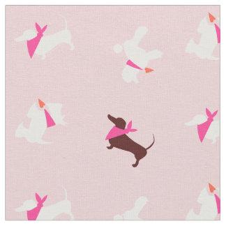 Pooches i rosa rosknopp tyg