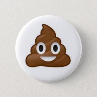 Poopen Emoji knäppas Standard Knapp Rund 5.7 Cm