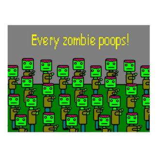 poops för varje zombie vykort