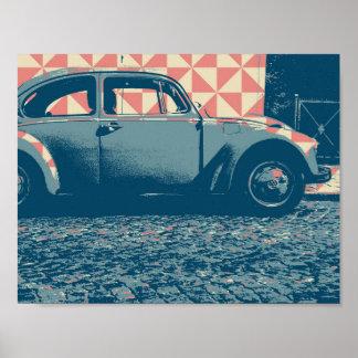 pop-konst bil poster