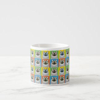Pop-Konst för Birman katttecknad Espressomugg