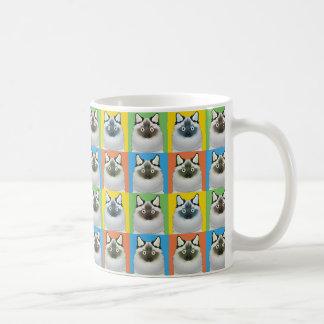 Pop-Konst för Birman katttecknad Kaffemugg