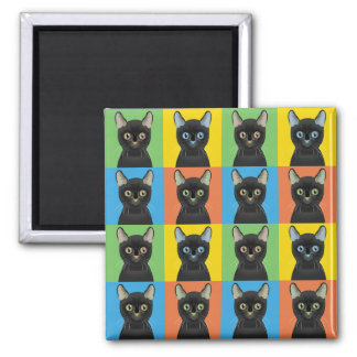Pop-Konst för Bombay katttecknad Magnet