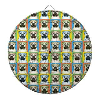 Pop-Konst för Bullmastiff hundtecknad Darttavla