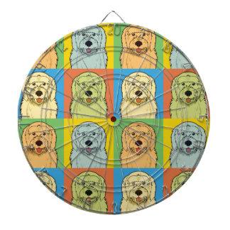 Pop-Konst för Goldendoodle hundtecknad Piltavla