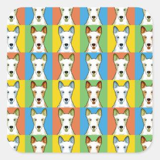 Pop-Konst för Kanaan hundtecknad Fyrkantigt Klistermärke