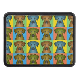 Pop-Konst för Rhodesian Ridgeback hundtecknad Bilkroksskydd