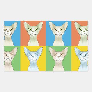 Pop-Konst för Sphynx katttecknad Rektangulärt Klistermärke