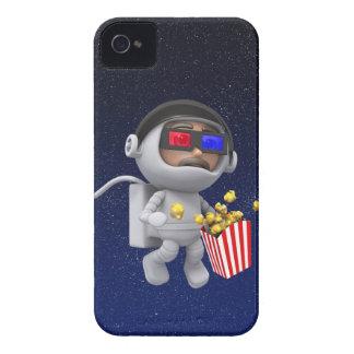 popcorn för astronautet 3d flyter i utrymme Case-Mate iPhone 4 fodral