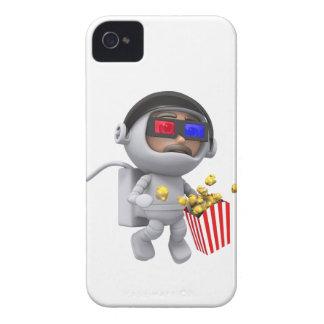 popcorn för astronautet 3d flyter i utrymme iPhone 4 hud