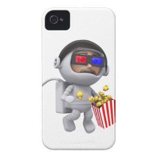popcorn för astronautet 3d flyter i utrymme iPhone 4 skydd