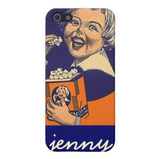Popcorn för etikett för advertizing för Iphone 4 iPhone 5 Fodral