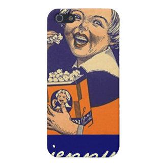 Popcorn för etikett för advertizing för Iphone 4 iPhone 5 Skal