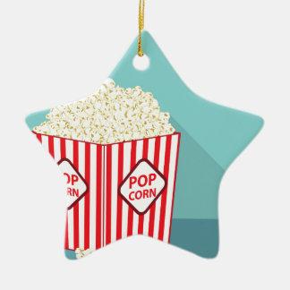 Popcorn ösregnar julgransprydnad keramik