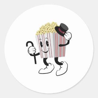 Popcorn Runt Klistermärke