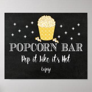 Popcornpuben undertecknar - tack för Poppin in Poster