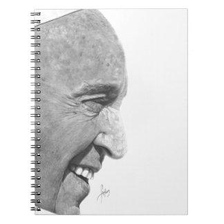 Pope Francis Anteckningsbok Med Spiral