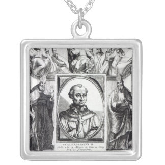 Pope Hadrian II Halsband Med Fyrkantigt Hängsmycke