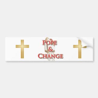 Pope och ändring bildekal
