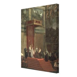 Pope Pius VII (Luigi Barnaba Chiaramonti) (1742-18 Canvastryck