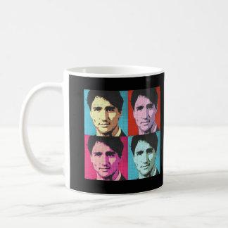 Popkonst Justin Trudeau - .png Kaffemugg