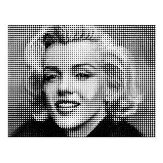 Popkonst Marilyn Vykort