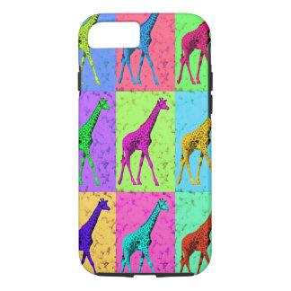 Popkonst Popart som går giraffMång--Färg