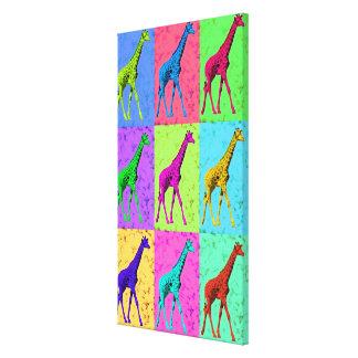 Popkonst Popart som går giraffMång--Färg Canvastryck
