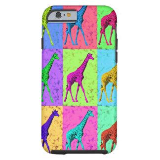 Popkonst Popart som går giraffMång--Färg Tough iPhone 6 Skal